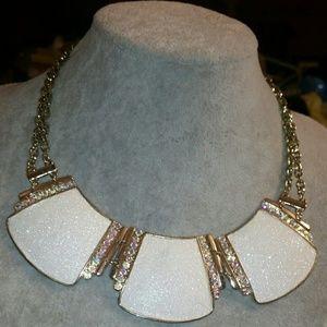 Style&co. Gold, White/Aurora Borealis Glitter Neck